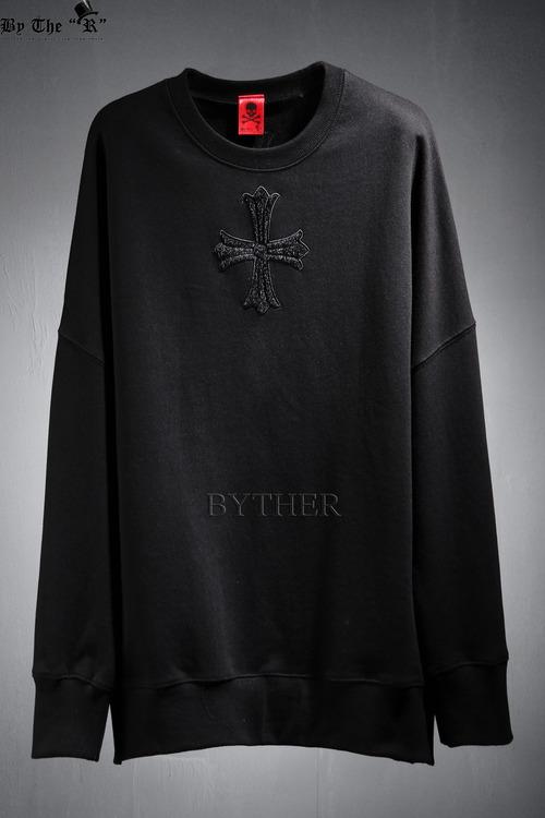 ByTheR 센터 송치 크로스  맨투맨 티셔츠